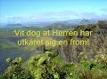 Vit dog at Herren -- Jesus -- Norwegian - Sing Georg C.Z. Psalms 4.4 & 5.13